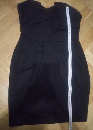 Короткое платье без бретелуй h&m