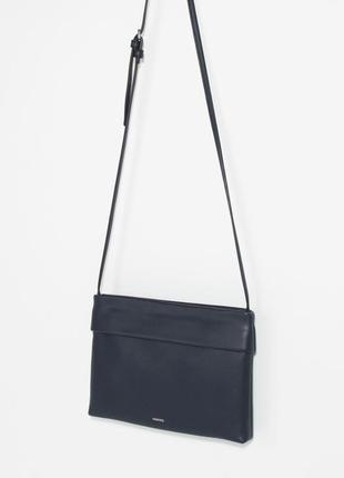 Сумка парфуа длинная ручка,  сумочка синего цвета
