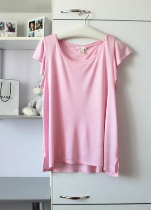 Нежно розовая мягуснькая футболка от h&m