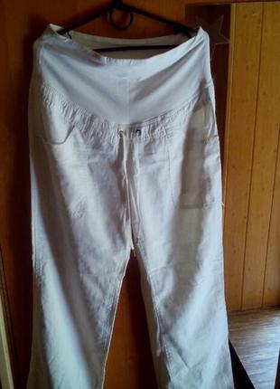 Льняные штаны брюки для беременных