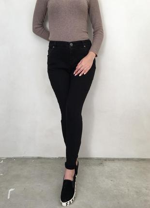 Фирменные модные черные джинсы white staff