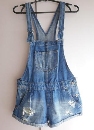 Джинсовый комбинезон джинсовые шорты