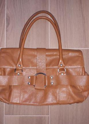 Рыженькая сумочка из натуральной кожи!zf