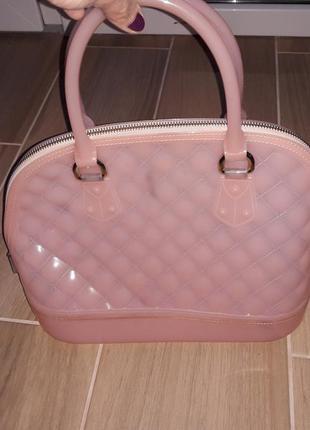 Силиконовпя розовая сумочка