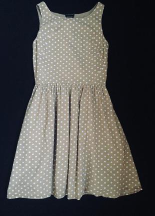 Летнее платье сарафан в горох topshop