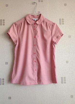 Пудровая рубашка new look размер 8