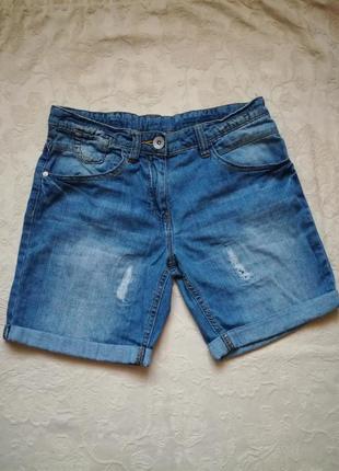 Джинсовые шорты с потертостями next