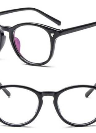 Квадратные очки стекляшки с тонкой оправой
