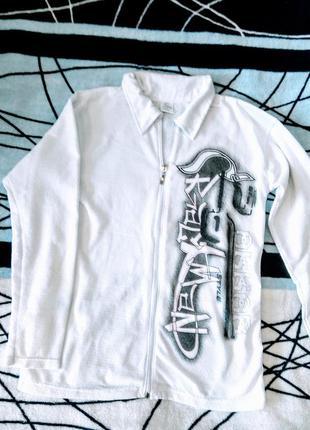 Мужская трикотажная рубашка на молнии