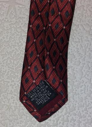 Фирменный галстук, ромб, натуральный шелк, италия, tie rack