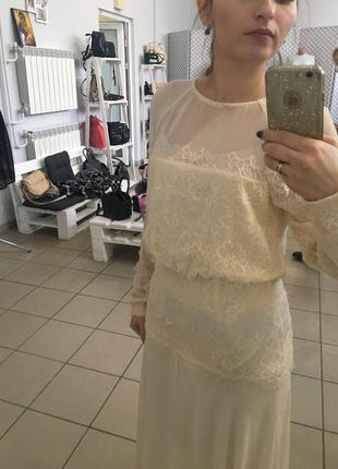 Платье asos, платье бежевое , свадебное
