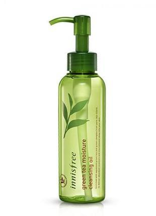 Гидрофильное масло с экстрактом зеленого чая innisfree green tea moisture