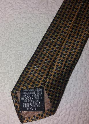 Фирменный галстук, мелкий узор, натуральный шелк, италия, tie rack