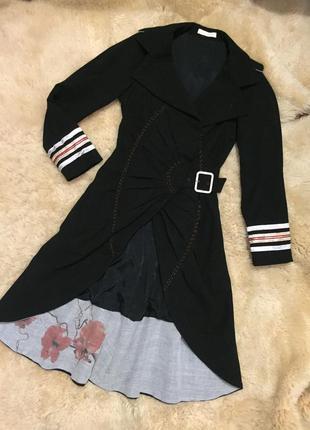Эксклюзивное, подиумное пальто осень/весна alessandro de benedetti