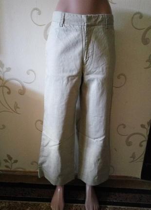55% натуральный лен 45% хлопок очень модные в этом сезоне штаны кюлоты .