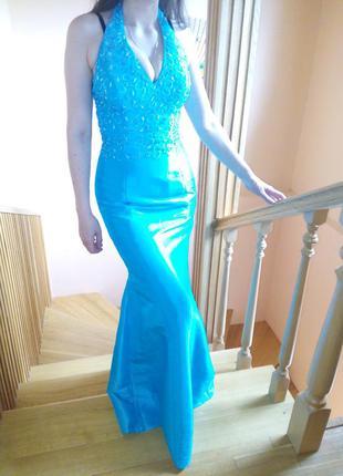 Шикарное нарядное платье на выпускной или для дружки на свадьбу