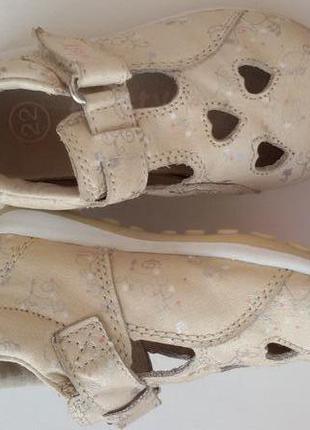 Кожаные туфли twisty 22 р. туфельки 14 см.