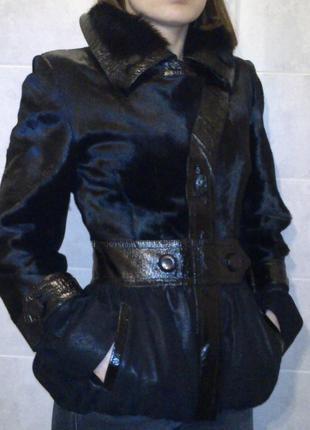 Осенняя курточка из меха пони.