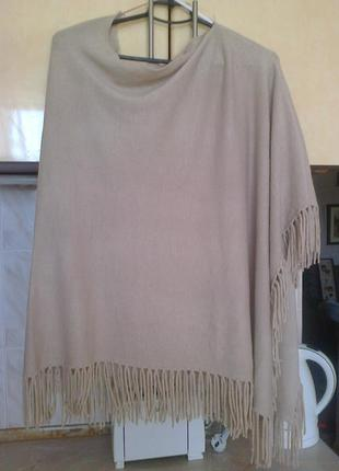 Фирменое пальто - накидка - кардиган - пончо модное асиметрич по плечам
