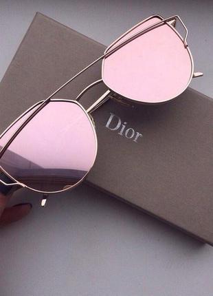 8cc540ed8d49 Стильные солнцезащитные очки в стиле dior monster розовые в золотистой  оправе зеркальные