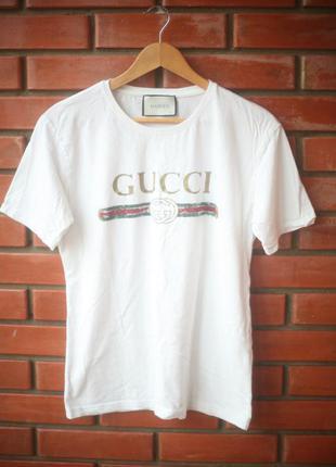 ab9c3a24c9b8 Мужские футболки Gucci 2019 - купить недорого мужские вещи в ...