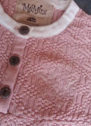 Качественный комбинезон memini для девочки 6-18 мес, пижама