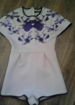 Супер літній комбінезон з фіолетовим принтом