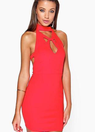 Новое платье красное с шнуровкой asos размер s
