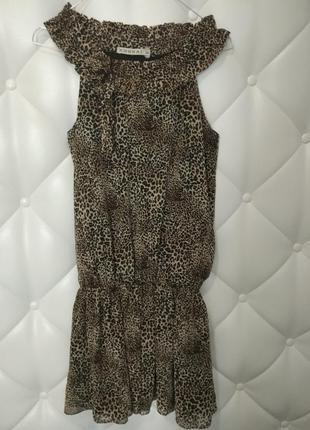 Платье kookaї с леопардовым принтом