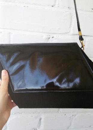Вінтажна асиметрична сумочка на плече/клатч!