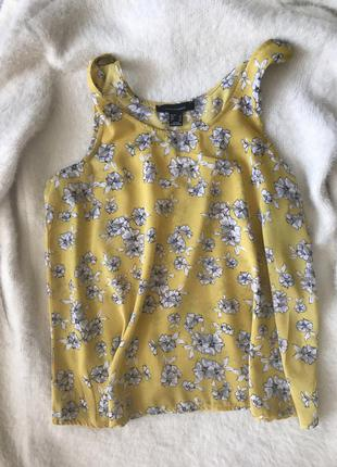 Майка блуза в цветочный принт шифон