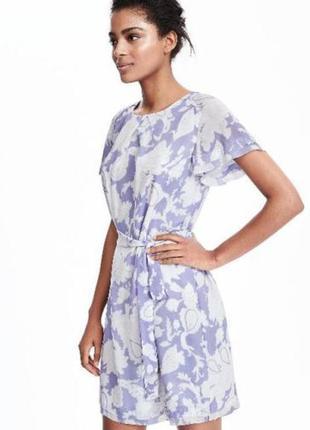 Лавандовое летнее платье