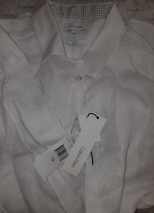 Рубашка льняная мужская calvin klein оригинал