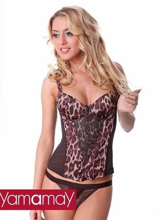 Сексуальный с пушапом леопардовый корсет фирмы yamamay
