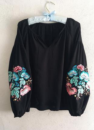 🖤шикарная блуза рубашка с вышивкой вышиванка