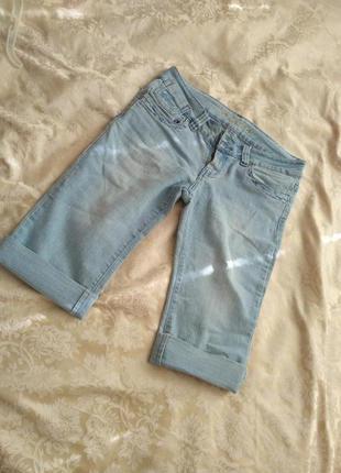 Капри бриджи джинсовые