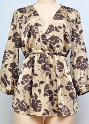 Блузка золотого цвета, h&m, размер l