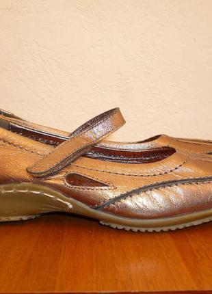 Туфли, балетки, мокасини helioform кожа р. 38  ст. 25,5 см.