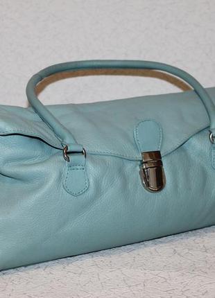 Кожаная сумка цвета мяты tommy&kate