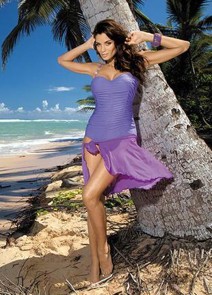 Gabrielle 2 marko фиолетовый сдельный купальник скрывает недостатки
