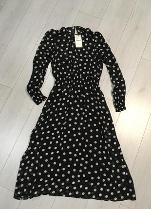 Новое платье  в горох zara.