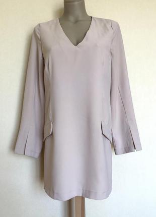 Доступно - пудровое платье прямого кроя *danity* р. m