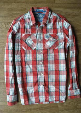 Крутая ,яркая рубаха от японского бренда super dry