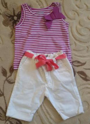Крутой детский наборчик футболка и брюки oshkosh на девочку 9-12м