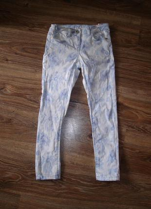 Стрейчевые джинсы next на 8 лет рост 128 в хорошем состоянии