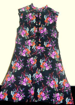 Штапельное платье-миди, цветочный принт от бренда papaya.
