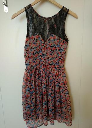Шифоновое платье bershka