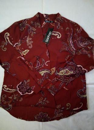 Яркая блуза на запах boohoo