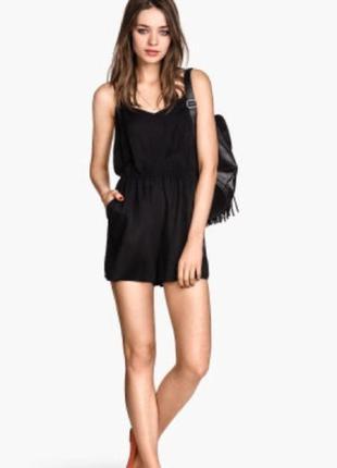 H&m черный ромпер - комбез шорты с открытой спиной s-  м- размер