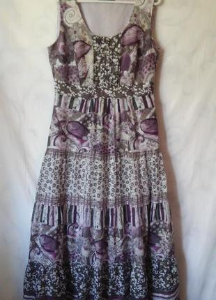 Платье-сарафан 100% хлопок  l - xl gerry weber